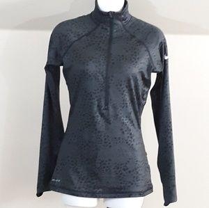 Nike Pro Dri-Fit Hyperwarm Half Zip Pullover Top S